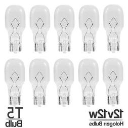 |10-Pack| 12V 12W T5 Wedge Base Replacement Halogen Low Volt