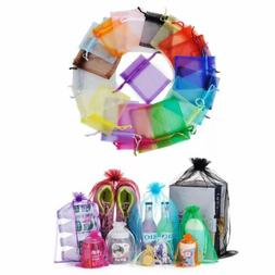 100Pc 3x4 4x6 5x7 set Organza Party Potluck Packing Wedding