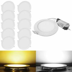 10PACK 20PACK LED Recessed Ceiling Panel Down Light Ultra Sl