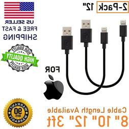"""12"""" 1FT USB Short USB Cable Charger Iphone Charging Cables D"""