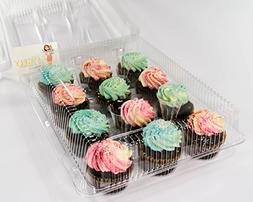 Katgely 12 Cavity Cupcake Container To Carry Cupcakes