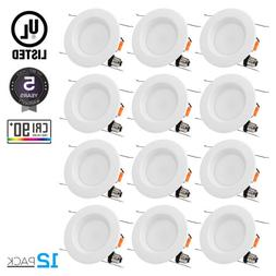 TORCHSTAR 12 PACK 15W 6 inch Dimmable Recessed LED Downlight