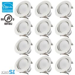 TORCHSTAR 12 Pack 11W 4 Inch LED Gimbal Recessed Retrofit Do
