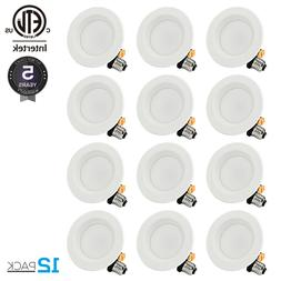 TORCHSTAR 12 PACK 4 Inch LED Recessed Downlight Kit 10W Dimm