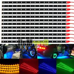 12 Pack DC 12V Waterproof 1Ft 15 LED Strip Underbody Light w