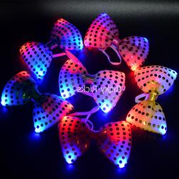 12 pack light up bow ties led