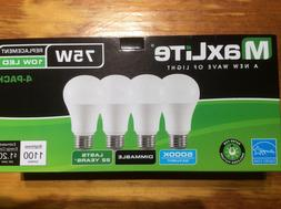 12 pack New 75 Watt Equivalent  A19 LED Light Bulb dimmable