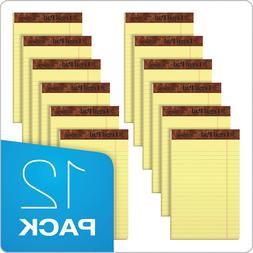 12 Pack Writing Pads Jr. Legal Rule 5 x 8 Canary Yellow Pape
