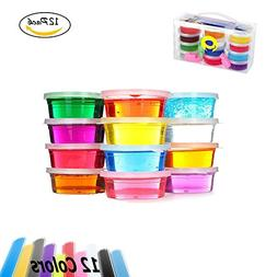 Aitsite 12 Packs 12 Colours Crystal slime set, DIY Magic Sof