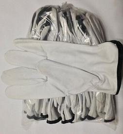 12 Pair Pack, Goat Skin Grain Leather Drivers, work safety g