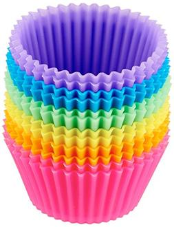 12 pck silicone cupcake liner