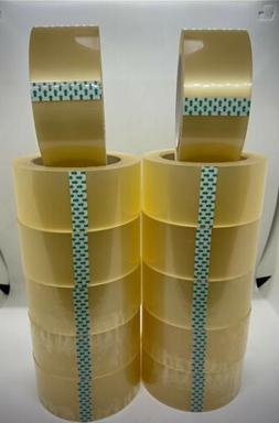 12 Roll Clear Carton Sealing Packing Tape 2 IN X 110 Y Extra