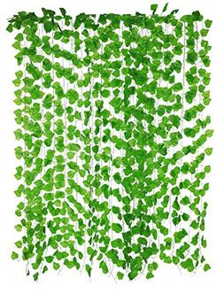 Yatim 12 Pack 94.5-Ft Artificial Greenery Fake Hanging Vine