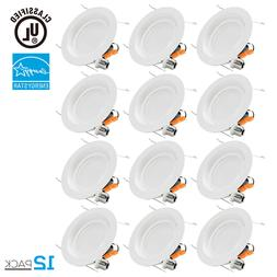 TORCHSTAR 12Pack 17W 6'' Dimmable LED Retrofit Recessed Ceil