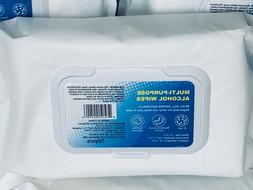 12Pack/75%Alcohol Multi-purpose Disposable Wipes-Portable St