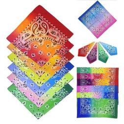 12pack multi color gradient bandana paisley bandana