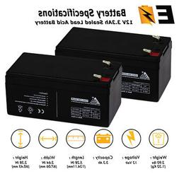12V 3.3AH SLA Battery replaces PE12V3AF1 PS-1230 UB1234 WP3-