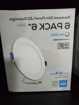TORCHSTAR 12W Ultra-thin 6 inch Dimmable Recessed Ceiling Do