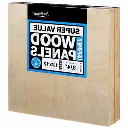 Artlicious 12x12 Super Value Wood Panel Boards for Artist Pa