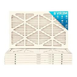 16x30x1 MERV 8 Pleated AC Furnace Air Filters.   12 Pack