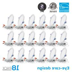 TORCHSTAR 18-Pack 6'' 12W Ultra-thin Dimmable Recessed Ceili