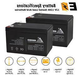 2 Pack - 12V 12AH SLA Battery for Currie Ezip 750 Electric S
