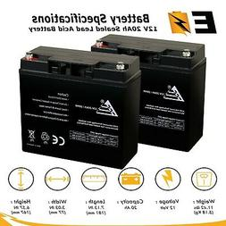 2 PACK 12V 20AH SLA Deep Cycle Battery for Pride Mobility Go