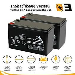 2 Pack 12V 7AH Battery RAZOR Scooter ES300 E200 E300 Bella B
