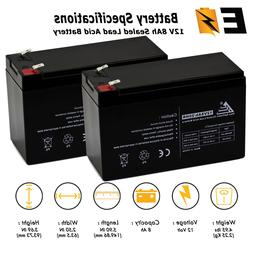 2-pack: 12V 8AH SLA Replacement Battery for Razor MX350 MX40