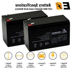 2 pack 12v 8ah battery replacement