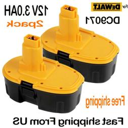 2 PACK NEW 12V 12 VOLT XRP BATTERY FOR DEWALT DC9071 DW9071