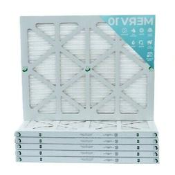 20x25x1 MERV 10 Pleated Air Filters. 12 PACK. Actual Size: 1
