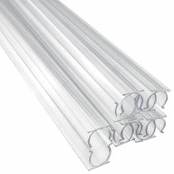 24 Inch x 1/2 Inch Rope Light Mounting Track - Clear PVC Cha