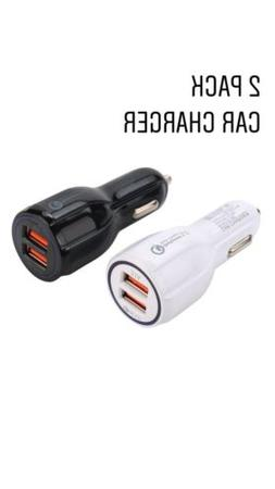 2PACK Dual USB 3.1A 12V Car Charger Adapter 3.0 Fast Chargin