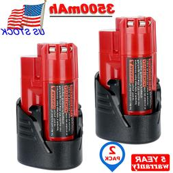 2X For Milwaukee 48-11-2430 M12 LITHIUM 2.5AH Battery Pack 4