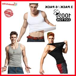 3-12 Packs Mens Premium 100% Cotton Tank Top A-Shirt Undersh