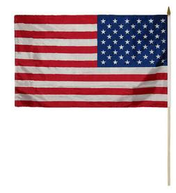 "3 Pack USA American 50 Star 100D 12""x18"" Stick Flag 30"" Wood"