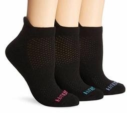 3 PACK Fruit of the Loom Womens Breathable Low Cut No Show A