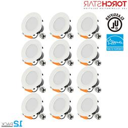 TORCHSTAR 4 inch 12W Dimmable Retrofit LED Recessed Ceiling