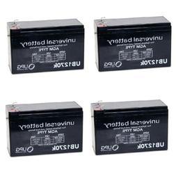 4 PACK  12V 7AH Emergency Lighting Replacement Battery- Seal