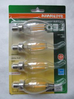 Sylvania 4 Pack Ultra Filament Dimmable Candle LED Bulbs B10
