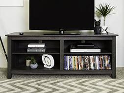 New 58 Modern TV Stand Console in Charcoal Finish