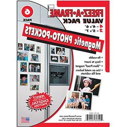 FREEZ-A-FRAME Magnetic Photo Picture Frame, White, Contains