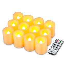 Kohree Flameless Battery Operated LED Pillar Candles Unscent
