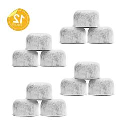 Pack of 12 Replacement Charcoal Water Filters By Housewares