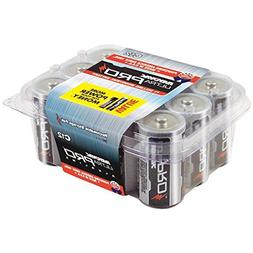 RAYOVAC C Ultra Pro Alkaline Batteries, 12-Pack with Reclose