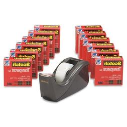 Wholesale CASE of 5 - 3M Scotch Tape Value Pack W/ Dispenser