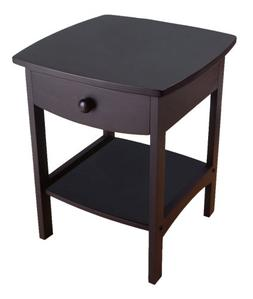 Winsome Wood End Table/Night Stand with Drawer and Shelf, Bl