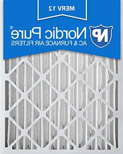 Nordic Pure 16x25x4M12-2 MERV 12 Pleated AC Furnace Air Filt