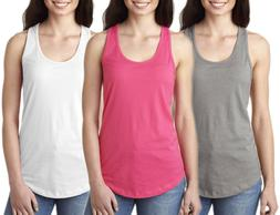 Clementine Apparel Women's Ideal Racerback Tank Tops, 3-Pack